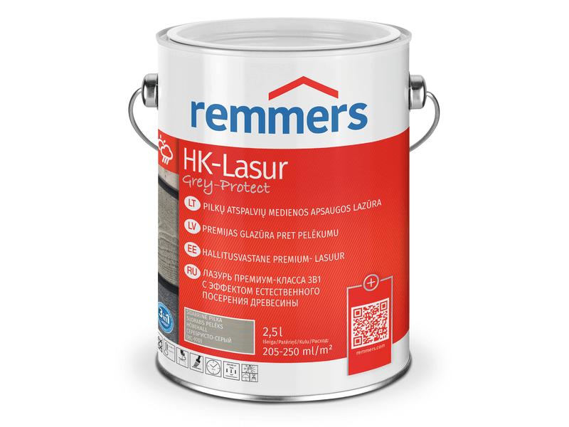 Medienos dažai Remmers | HK Lasur Grey Protect