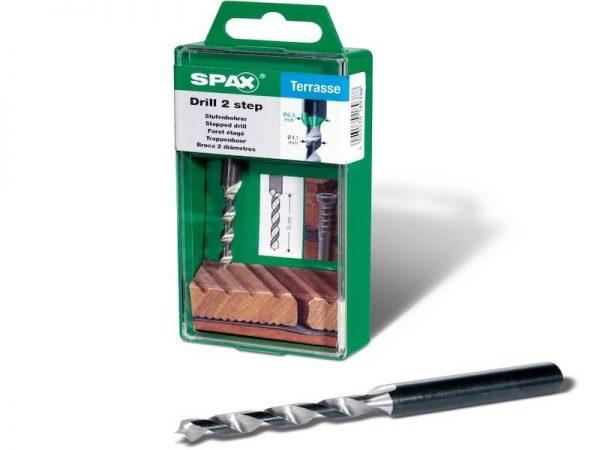 Spax grąžtas | Pakopinis terasų montavimas