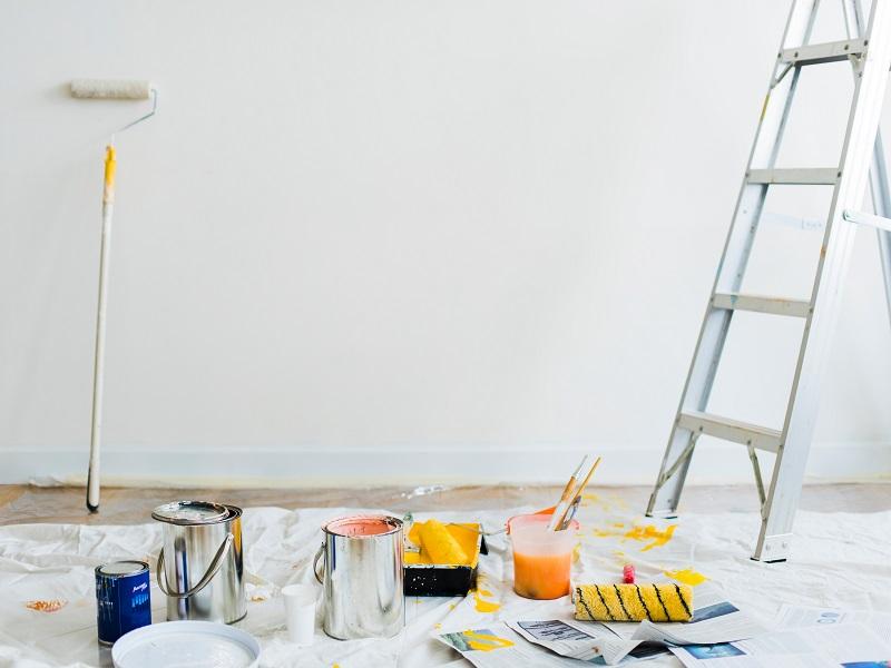 Vidaus sienų dažymas: 7 gudrybės